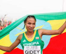 Letesenbet Gidey vise le record du monde du semi marathon