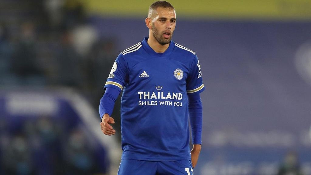 L'attaquant algérien Islam Slimani (Leicester City) plaît beaucoup à l'Olympique Lyonnais.