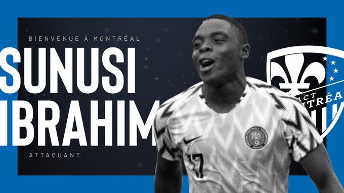 Sunusi Ibrahim signe à l'Impact Montréal