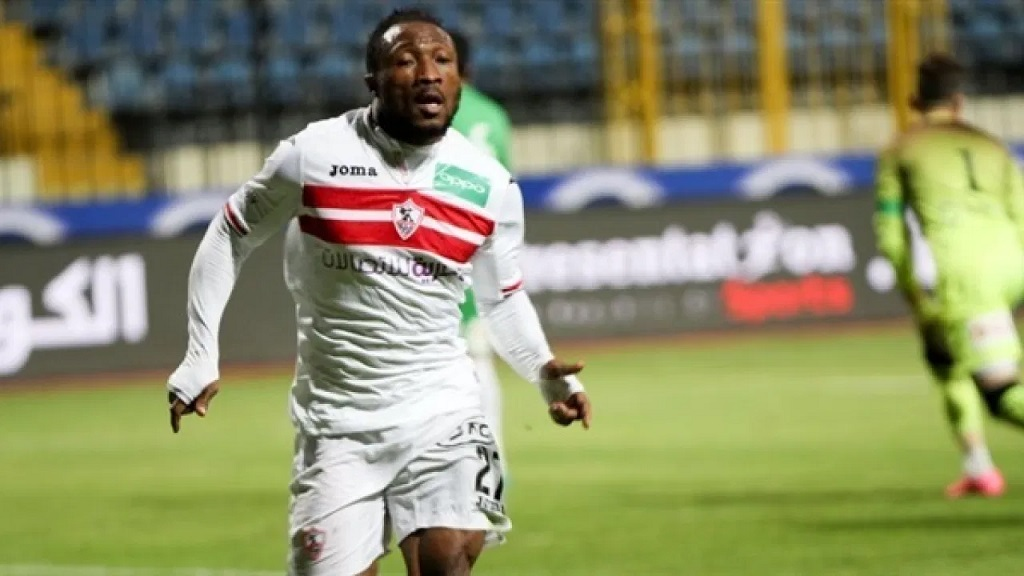 Benjamin Acheampong avec le maillot du Zamalek SC.