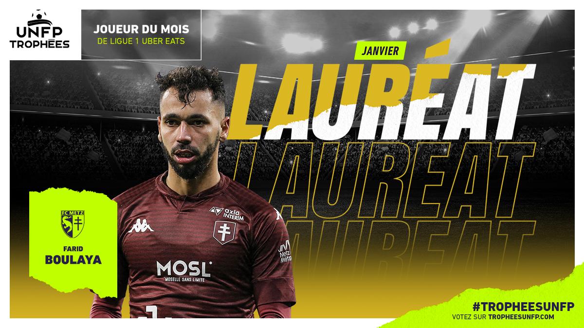 Farid Boulaya, meilleur joueur de Ligue 1 du mois de janvier