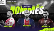 Boulaya, Neymar et Volland, les 3 finalistes du joueur du mois de janvier