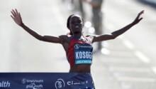 Kosgei, vainqueur du marathon de Londres