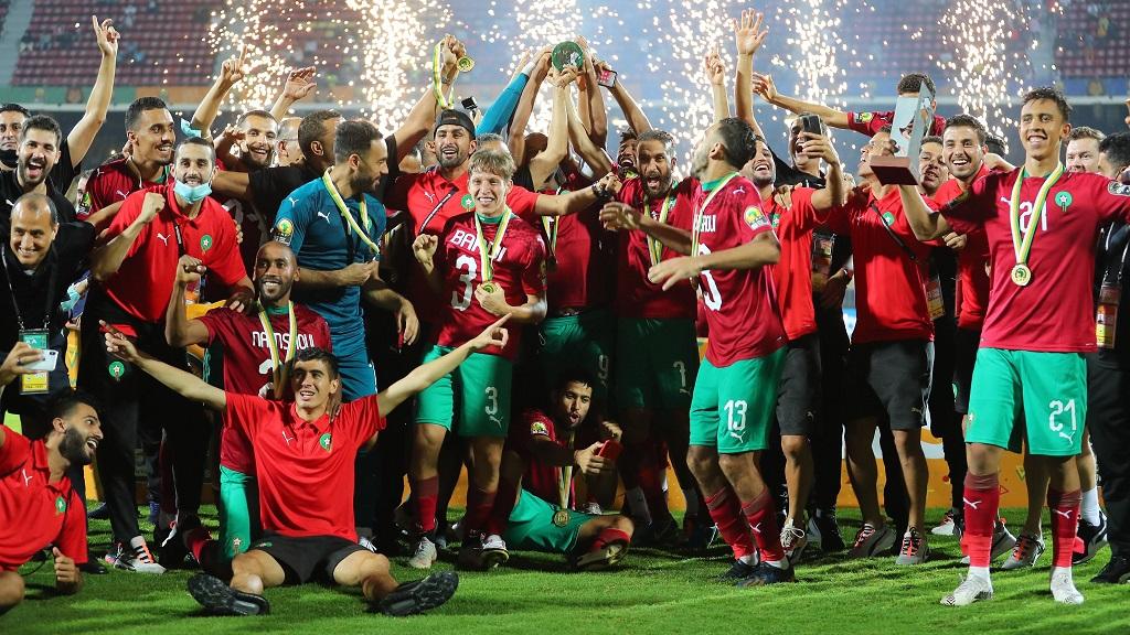 L'équipe du Maroc vainqueur du CHAN 2021.