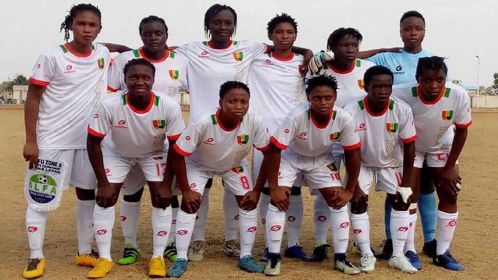 L'équipe nationale féminine de Guinée.