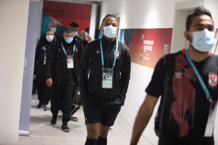 Les joueurs d'Al Ahly à leur arrivée au stade pour affronter le Bayern