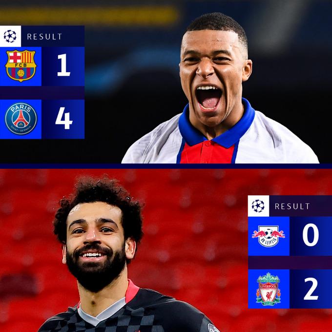 PSG et Liverpool brillent en Ligue des champions