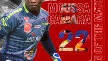 Moussa Camara, homme du match Kaizer Chiefs - Horoya AC