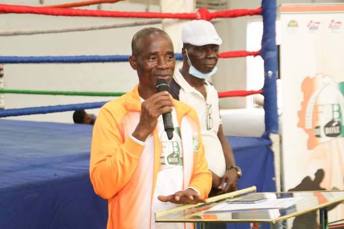 Emmanuel  Arthur Boua, président Fédération ivoirienne de boxe