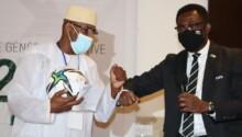 Saïd Ali Saïd Athouman et Veron Mosengo-Omba après l'élection