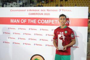 Soufiane Rahimi, meilleur joueur et meilleur buteur du CHAN 2021