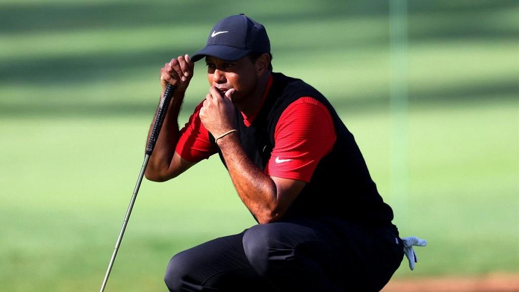 Tiger Woods, victime d'un grave accident de voiture.