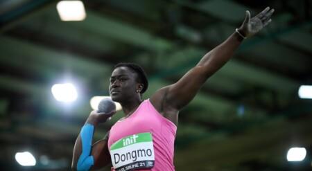 Auriol Dongmo-Lancer de poids-Champion d'Europe