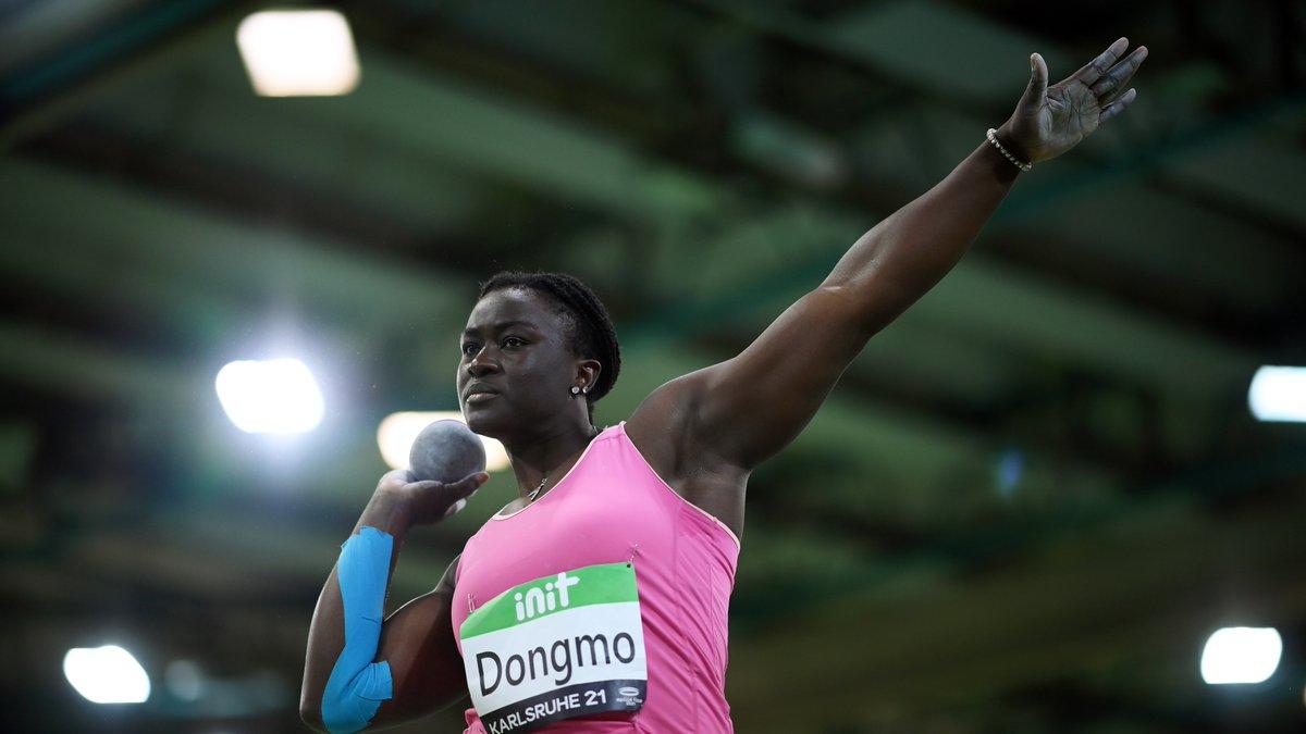 Auriol Dongmo, championne d'Europe de lancer du poids