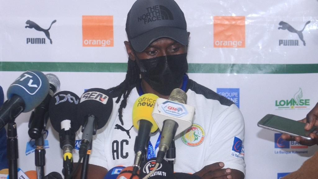 30/03/2021 : Aliou Cissé coach du Sénégal après le nul (1-1) des Lions contre l'Eswatini en éliminatoires de la CAN 2021.