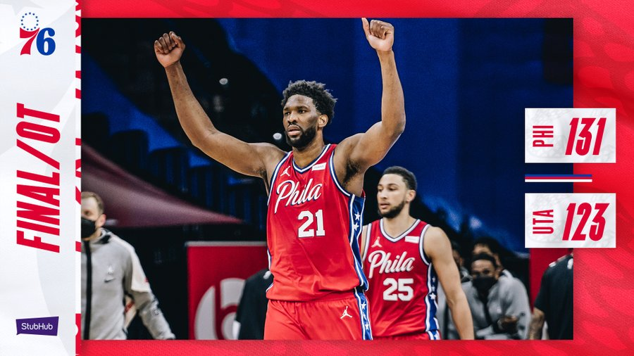Joel Embiid sort une nouvelle masterclass et s'offre Utah Jazz