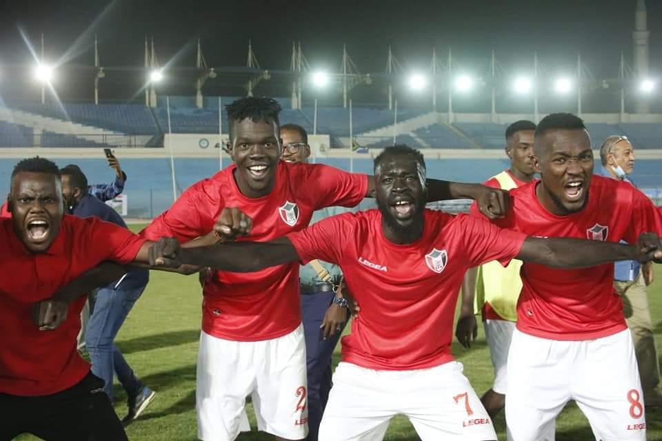 La joie des joueurs du Soudan qualifiés à la CAN 2021