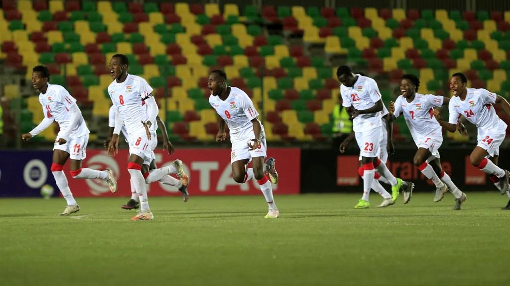 La joie des Gambiens vainqueur de la médaille de bronze de la CAN U20.