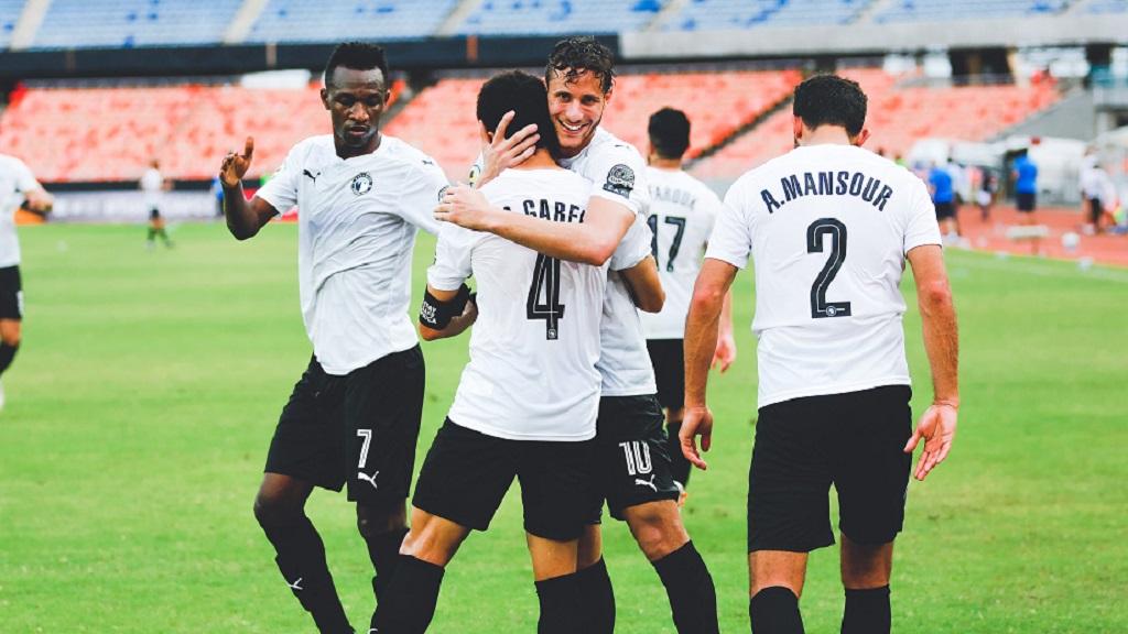 La joie des joueurs de Pyramids FC encore impériaux sur le terrain de Namungu FC.