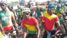 La ligne de départ de la 3e étape du tour du Mali.