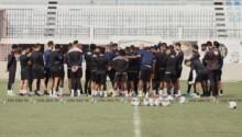 Les joueurs du CS Sfaxien en grève.