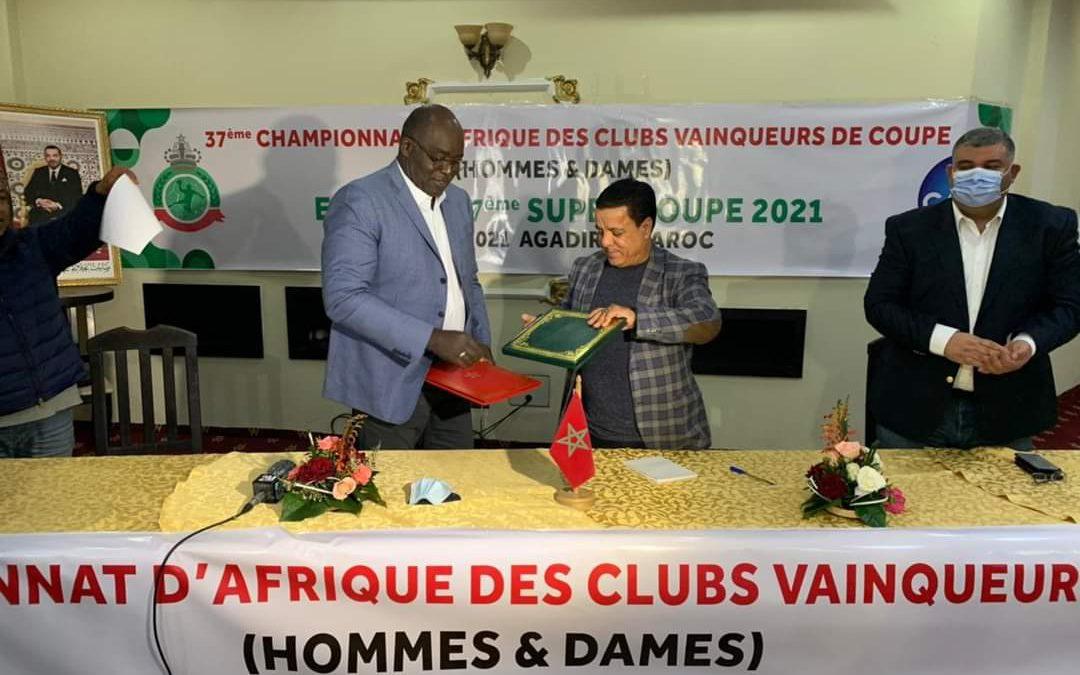 Mansourou Aremou président de la CAHB et El Adli Hanafi président de la Fédé marocaine