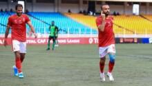 Mohamed Maghdy, auteur du 2e but d'Al Ahly lors de la victoire (0-3) sur l'AS Vita Club.