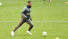 Moussa Dembélé à l'entraînement à l'Atlético de Madrid.