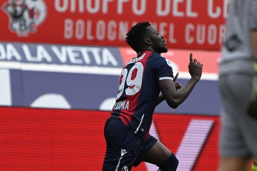 Le Gambien Musa Barrow marque contre la Sampdoria