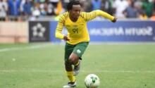 Percy Tau sera encore le fer de lance des Bafana Bafana face au Ghana.