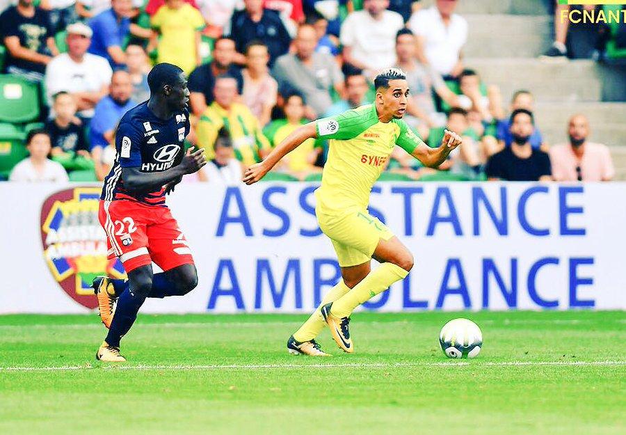 El Ghanassy en 2017 avec le maillot du FC Nantes