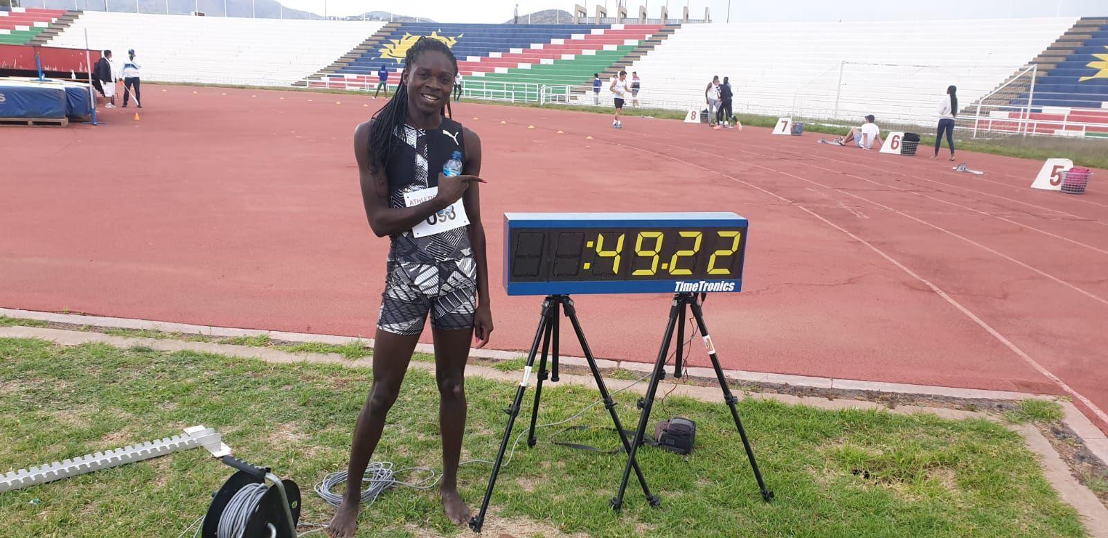 Christine Mboma, future reine du 400m