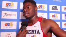 Emmanuel Matadi, athlète libérien spécialiste du 100m