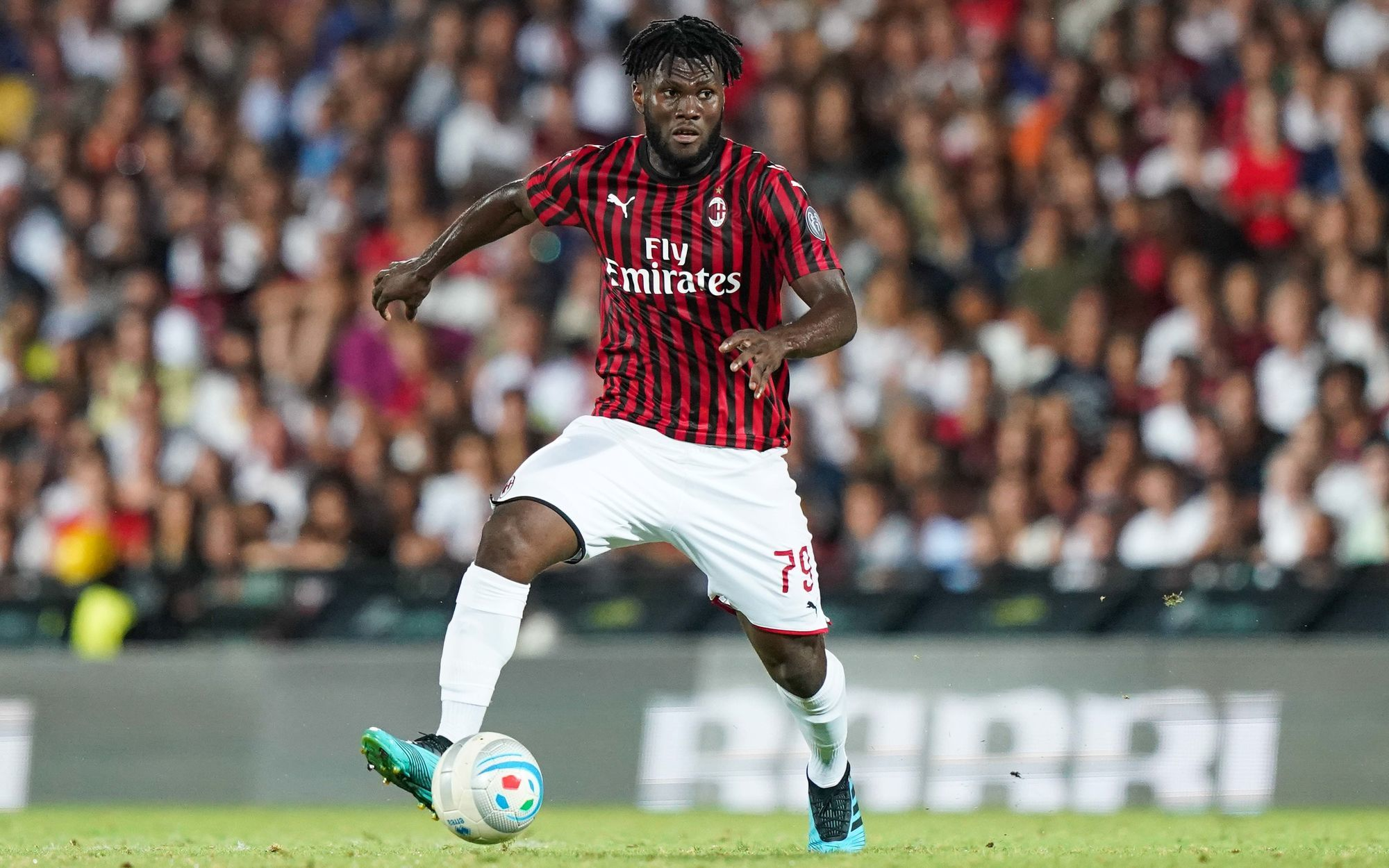 Franck Kessie during the friendly match between Cesena and AC Milan on August 17th, 2019. Photo: LaPresse / Icon Sport