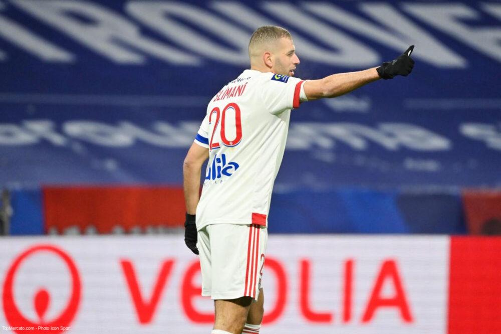 Islam Slimani, attaquant Lyon