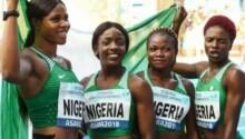Les Nigérianes, médaillées d'or du 4X200 aux relais mondiaux d'athlétisme en 2015