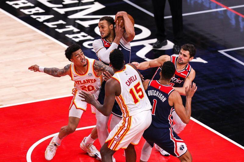 Duel épique entre Hawks d'Atlanta et Wizards de Washington.