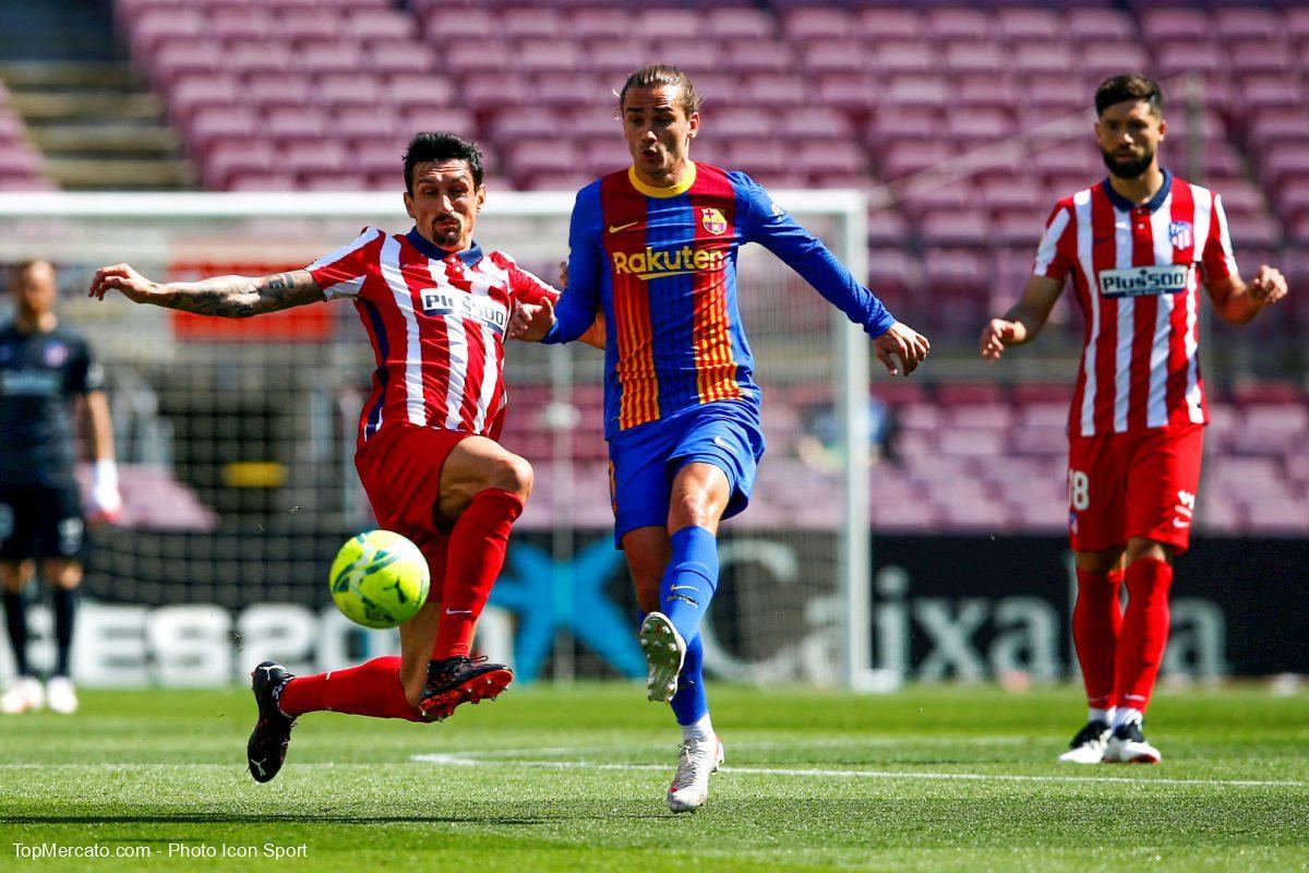 Antoine Griezman contre l'Atlético.