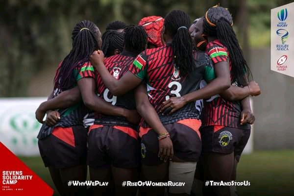 Les Lionnes de rugby du Kenya.