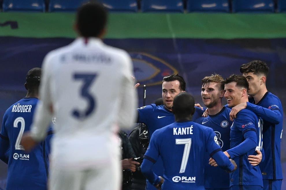 La joie des joueurs de Chelsea.