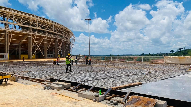 Le Complexe Olembé, un des principaux sites au programme de la visite conjointe CAF-FIFA au Cameroun.