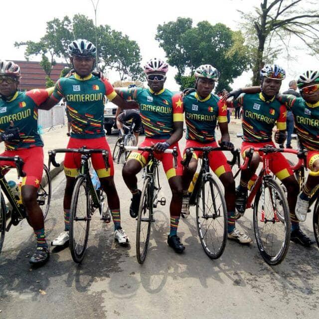 Les Lions indomptables du cyclisme, une des deux équipes hôtes du Tour du Cameroun.