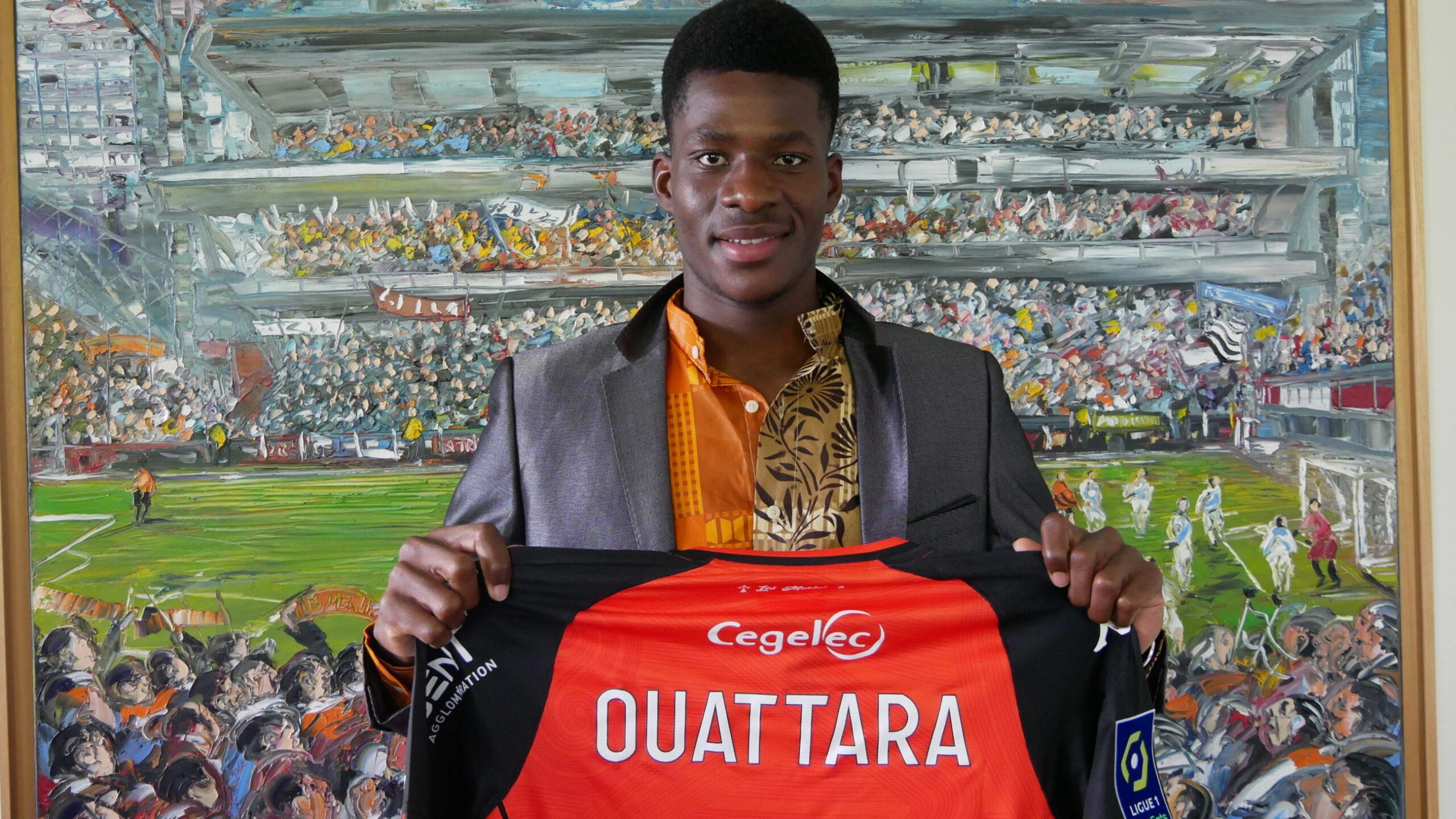 Dango Ouattara signe son premier contrat professionnel avec le FC Lorient
