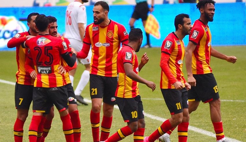 Les joueurs de l'Espérance de Tunis.
