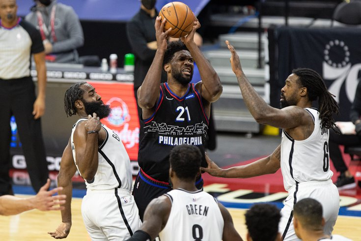 Joel Embiid face à Brooklyn NBA