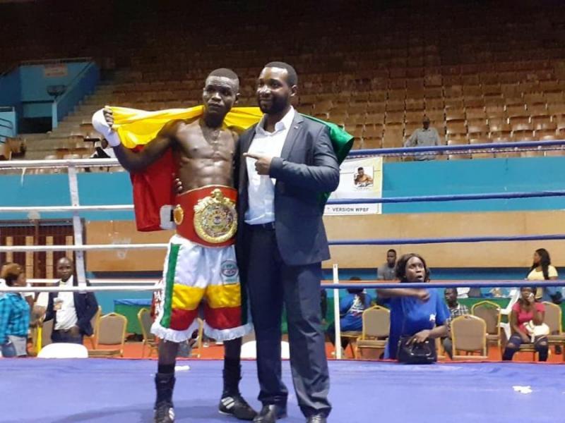 Le Béninois Clément Loko ,Champion d'Afrique des Poids Plume de la WPBF