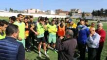 Le CA Bizertin aux entraînements