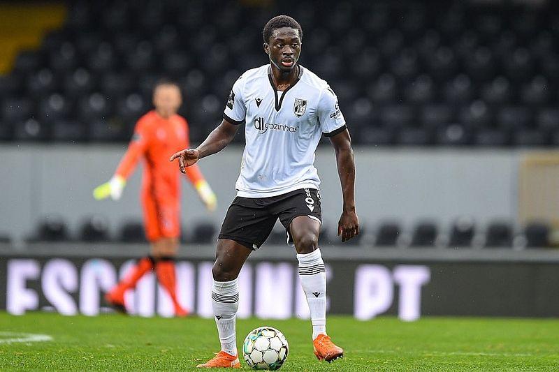 Le ghanéen Abdul Mumin Suleman jouant avec son club Victoria de Guimaraes (D1 Portugal)