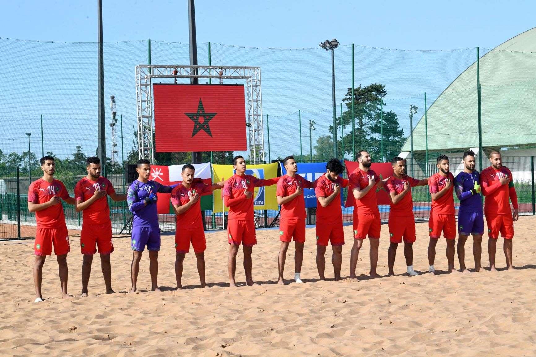 La sélection marocaine de beach soccer.