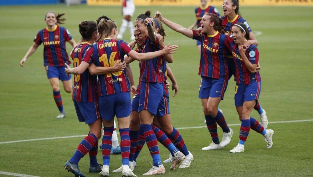 La joie du Barça féminin qualifié en finale de la Ligue des champions